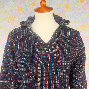 Vintage🌵90s Rainbow Stripe Drug Rug Poncho!